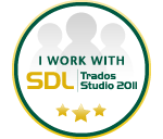 I work with SDL Trados Studio 2011
