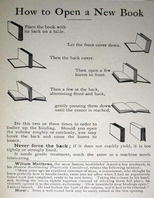 how to open new book